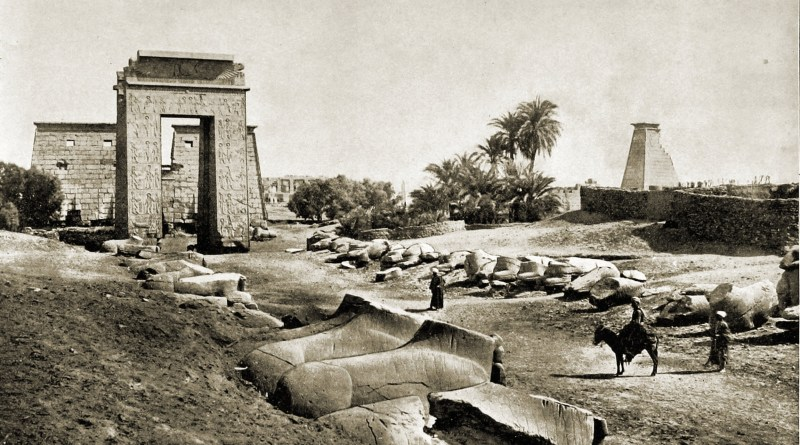 Sphinxes Avenue Karnak Egypt about 1892