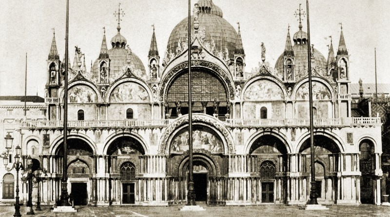 St Mark's Basilica Venice Italy about 1892