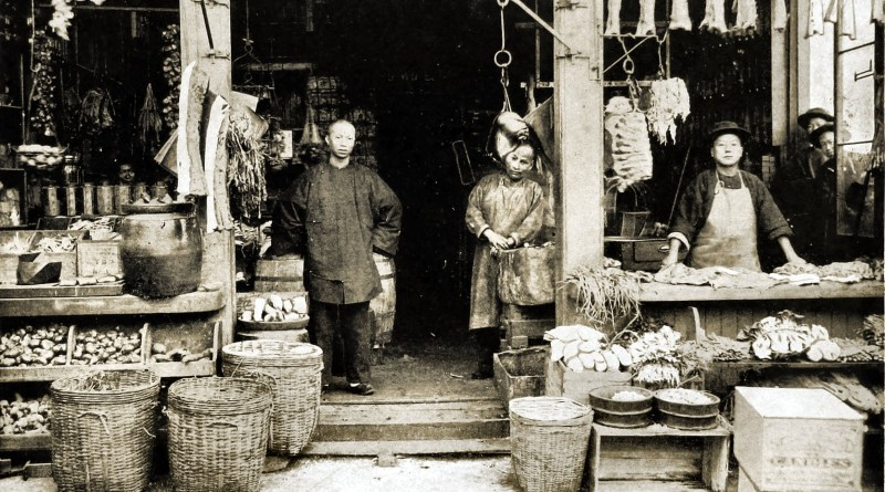 Chinese Shop in Chinatown, San Francisco, California, USA 1892