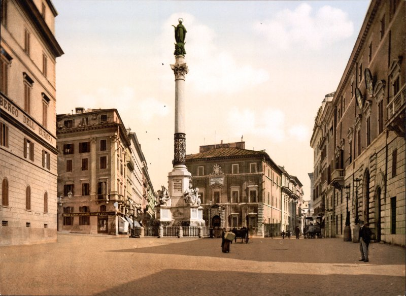 Column of the Immaculate Conception Rome about 1895