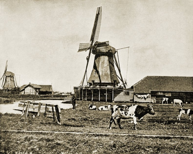 Dutch Windmills Holland about 1892