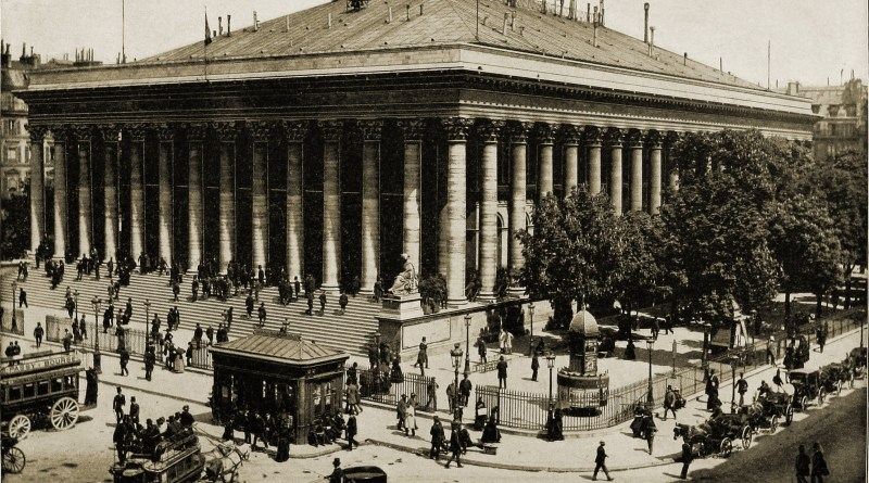 Paris Bourse about 1892