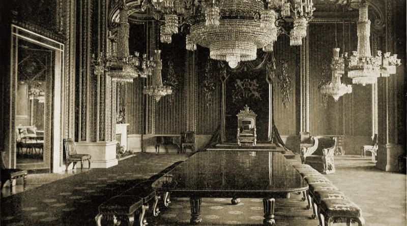 Throne Room Buckingham Palace London about 1892