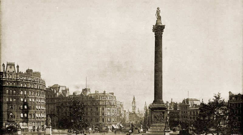 Trafalgar Square London England about 1892