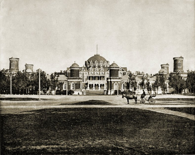 Petrovsky Palace Moscow Russia about 1892