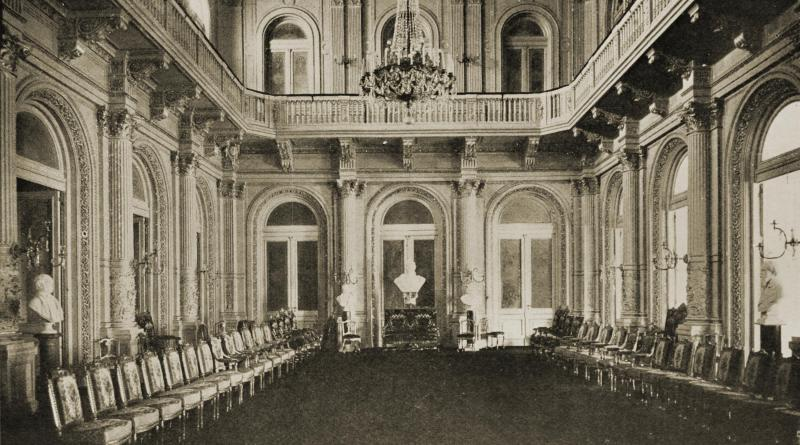 Audience Room, La Casa Rosada, Buenos Aires, Argentina about 1917