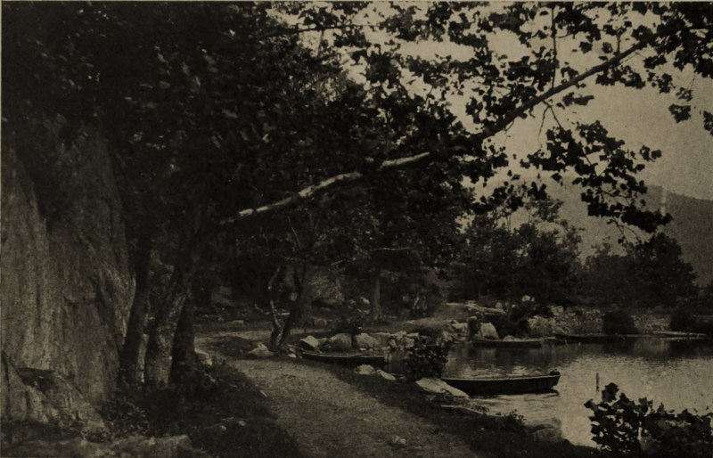 The River Walk by H. W. Hales about 1908