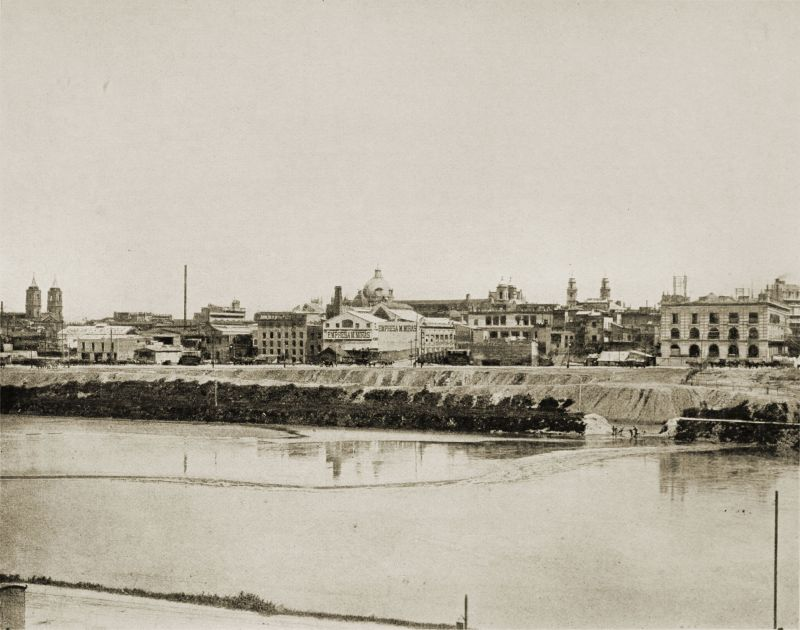 Water Front of Buenos Aires, Argentina in 1888