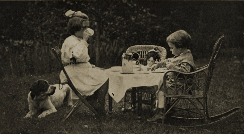 Drinking Outside by Jere Montague about 1908
