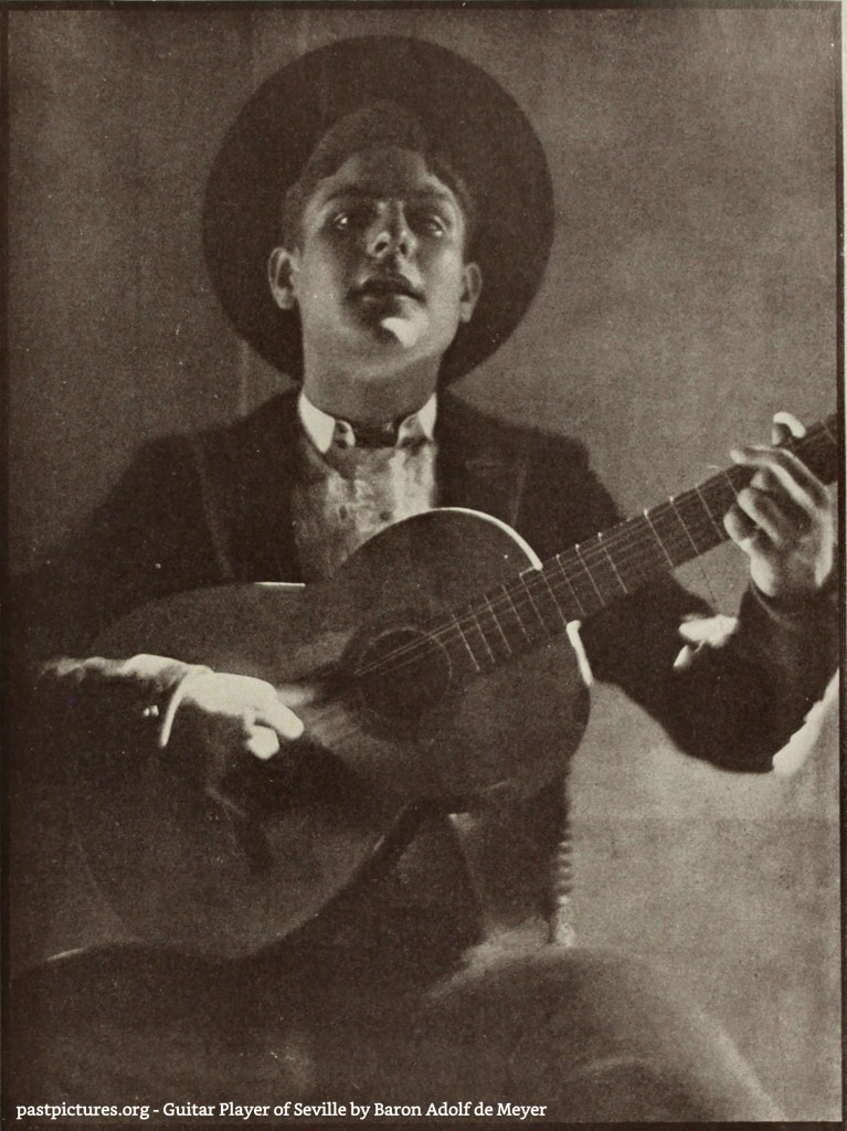 Guitar Player of Seville by Baron Adolf de Meyer about 1908