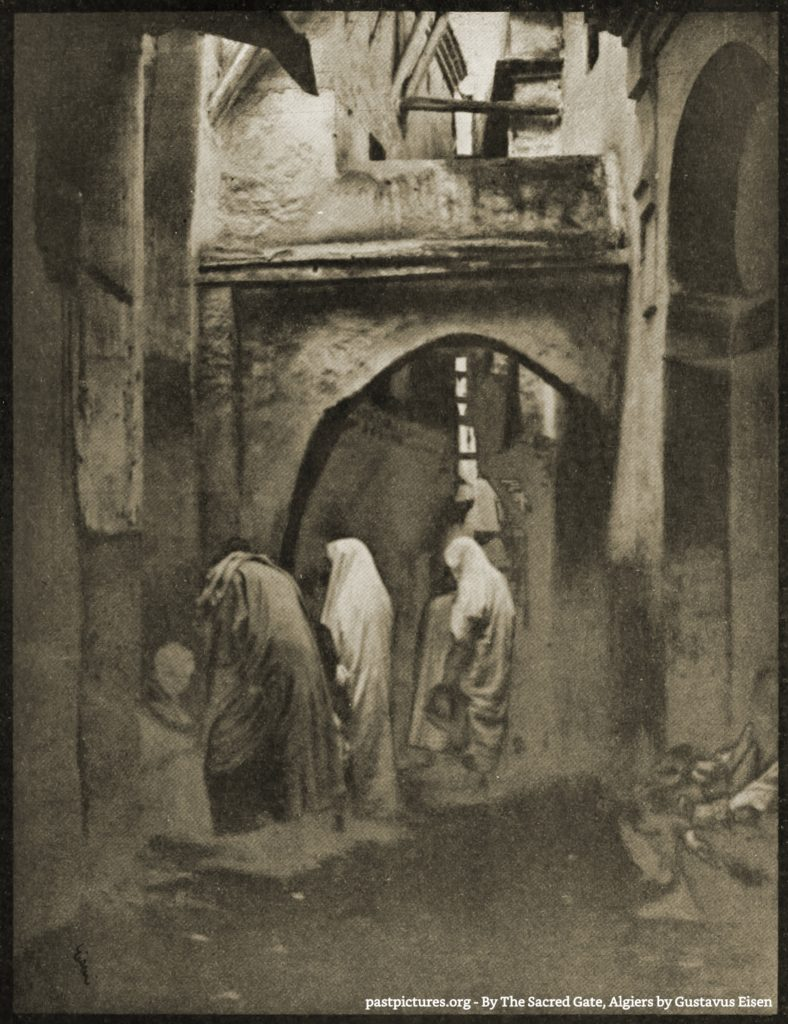 By The Sacred Gate, Algiers by Gustavus Eisen about 1908