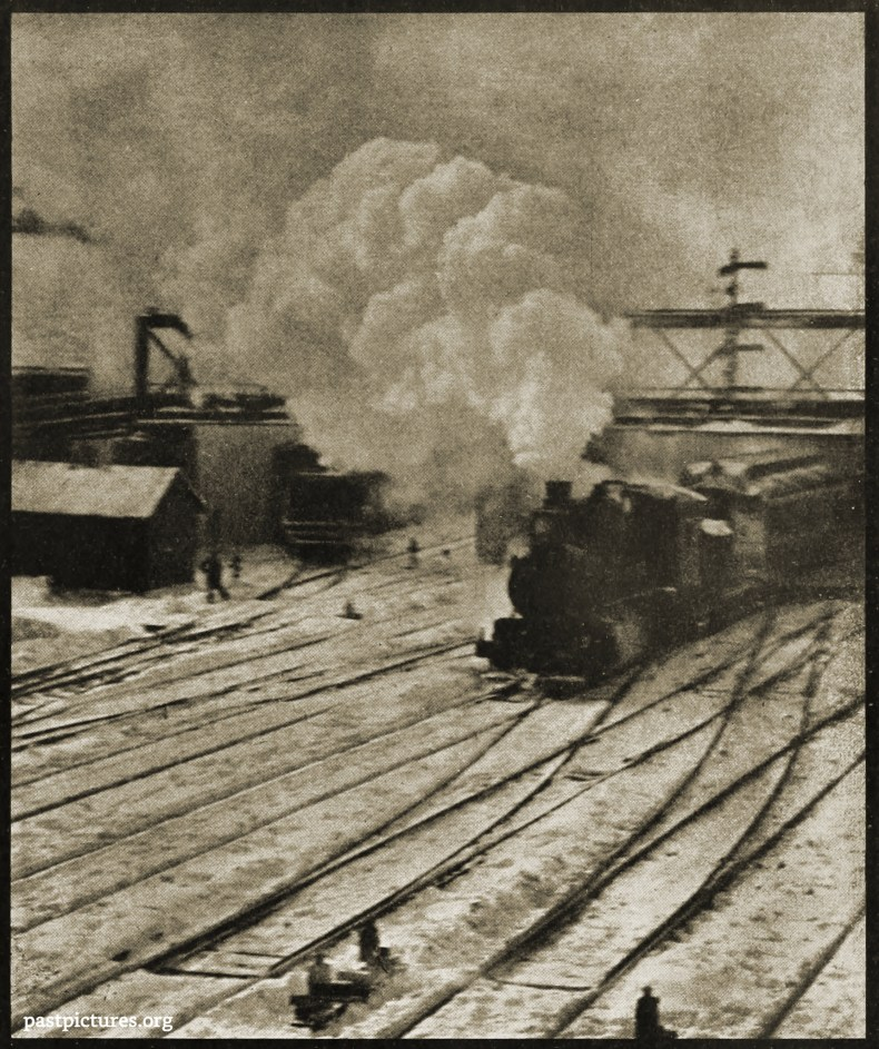 In the New York Central Yards by Alfred Stieglitz 1903