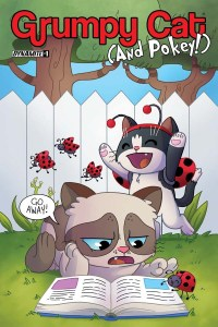 GrumpyCat2016-01-Cov-B-Garbowska (The Misadventures of Grumpy Cat & Pokey Hardcover Collection Approaches Sell Out of 100,000 Copy Print Run)
