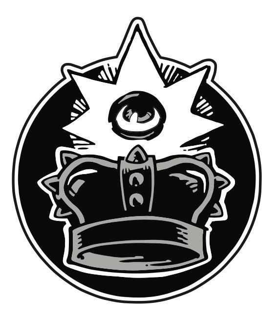 Black Crown Pin