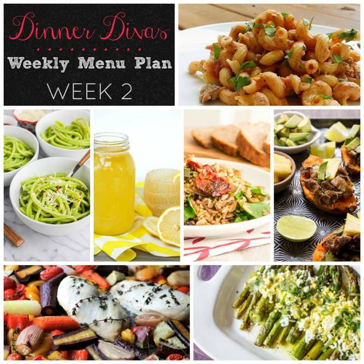 Dinner Divas Weekly Meal Plan Week Two 5 Mains, 2 Extras