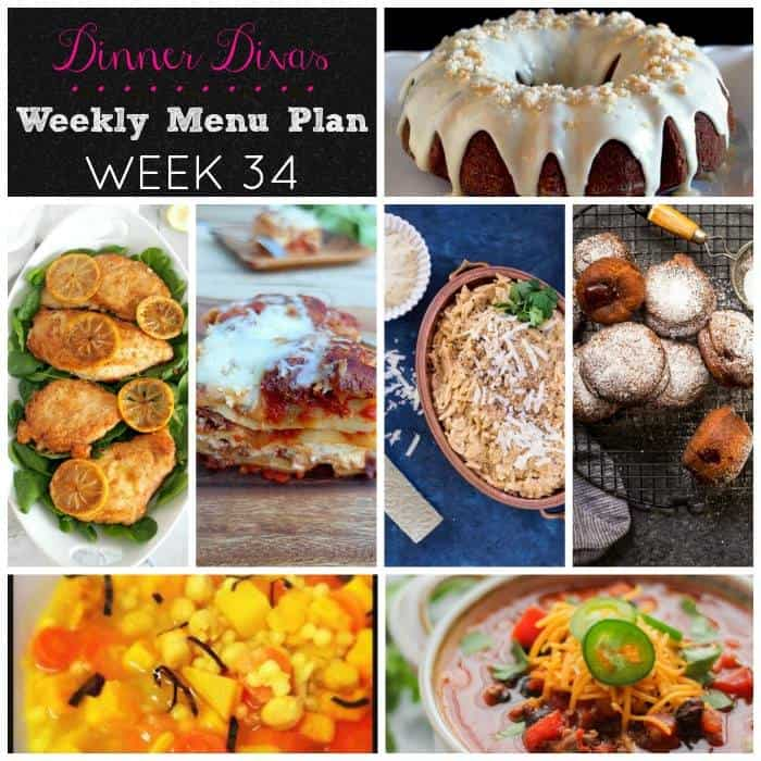Dinner Divas Weekly Meal Plan Week 34 5 Mains, 2 Extras8 - how to plan weekly meals for two