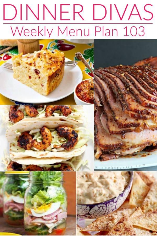Dinner Divas Weekly Meal Plan, Week 103 5 Mains, 2 Extras