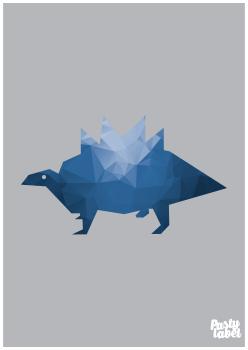 kinderkamerposter dino blauw