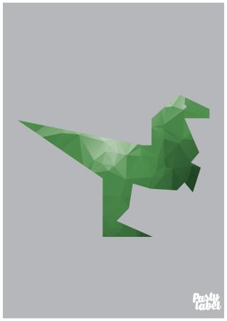 kinderkamerposter dino groen