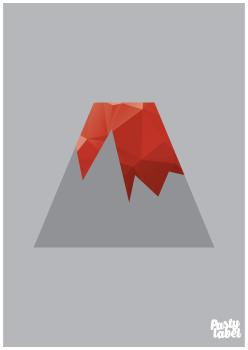 kinderkamerposter vulkaan