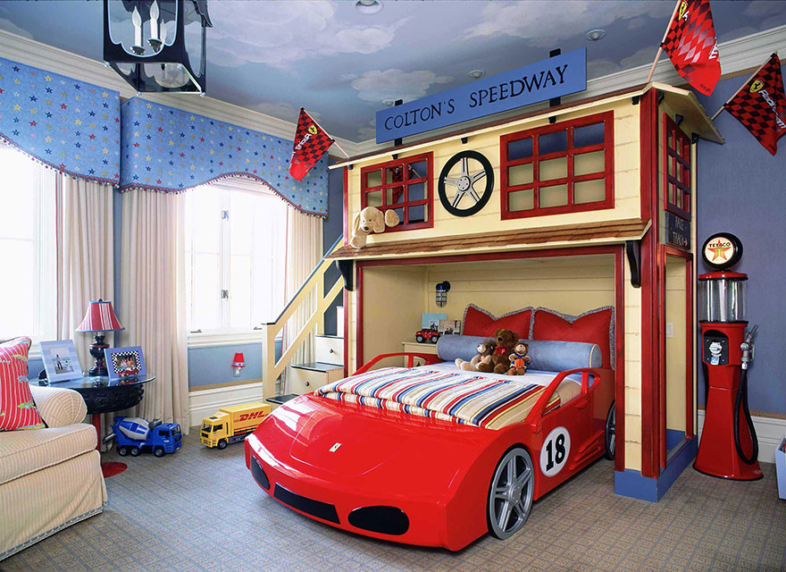 kinderkamer decoratie raceauto thema