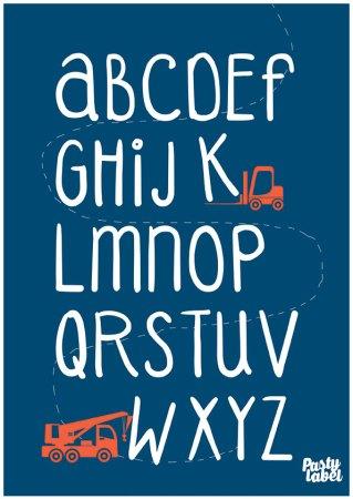 kinderkamerposter-alfabet-jongensblauw