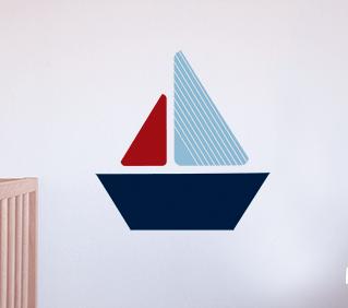 muursticker kinderkamer jongenskamer sticker zeilboot