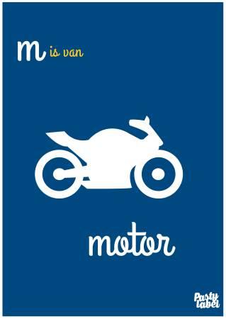 poster motor, letter m, poster letter