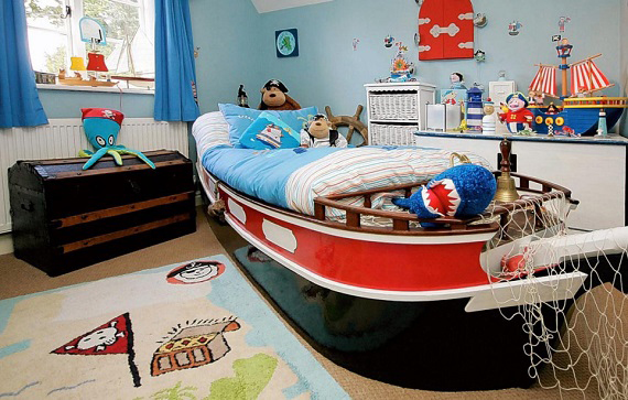 stoere kinderkamer decoratie boot
