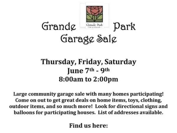 Jun 8 Grande Park Community Garage Sale Plainfield, IL Patch
