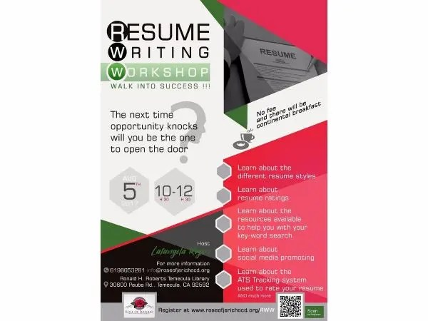 Aug 5 Resume Writing Workshop Temecula, CA Patch