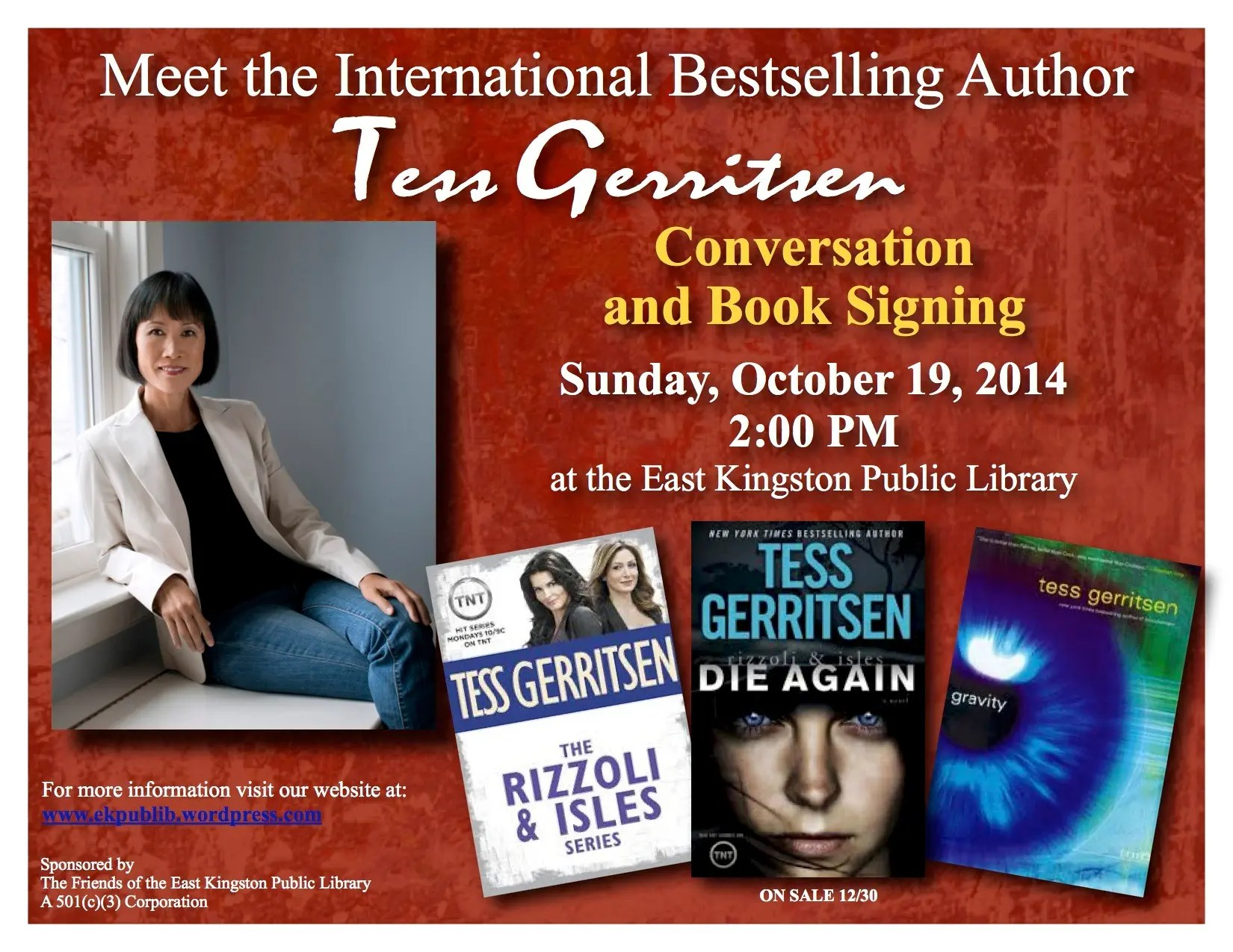 Conversation And Book Signing With Tess Gerritsen Hampton Nh Patch - Tess Gerritsen