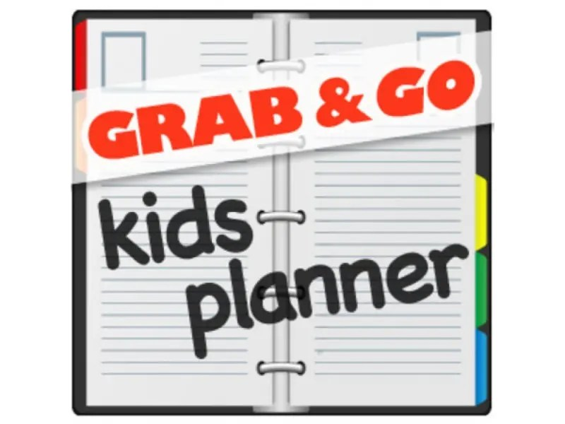 Grab and Go Kids Planner Family Health and Fitness Day, Spring Book