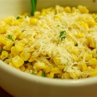 Roasted Corn with Manchego + Lime