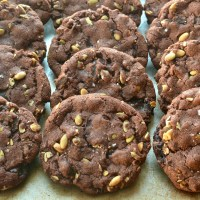 Spiced Chocolate Chunk–Pumpkin Seed Cookies