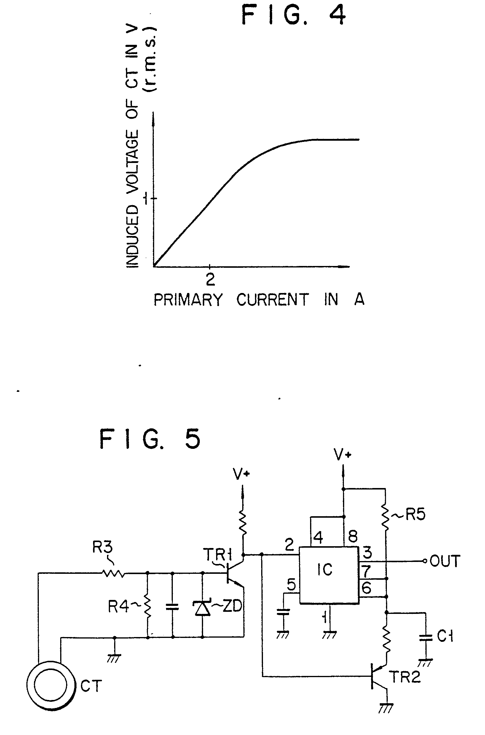 an ac current detection circuit for a rotor driving supply source