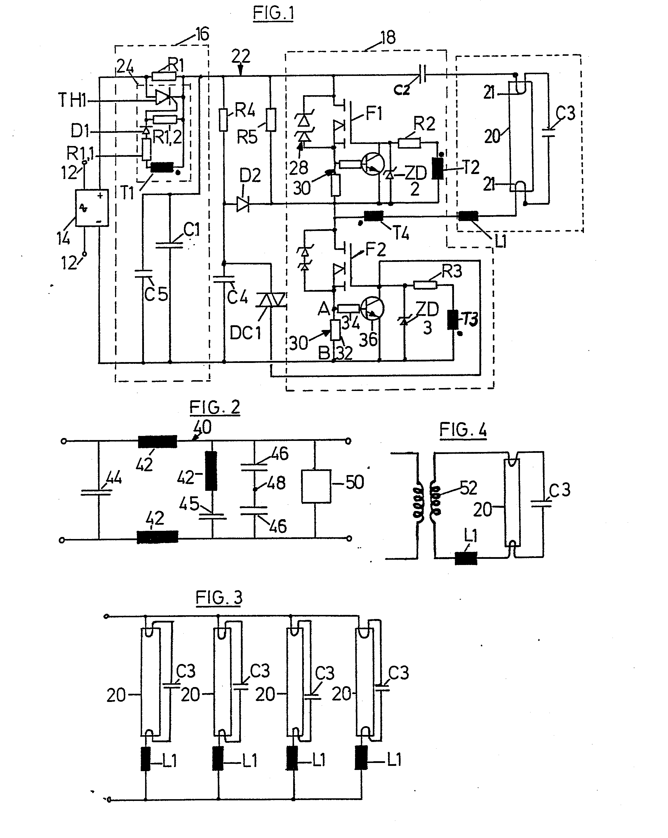 alternating current sensing circuit of claim 1 characterized in