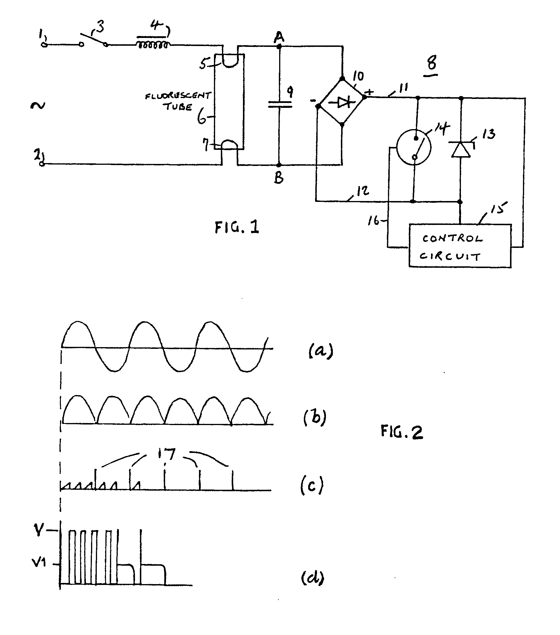 Fluorescent Tube Drawing Patent Ep0249485b1 Starter Circuit For A Fluorescent