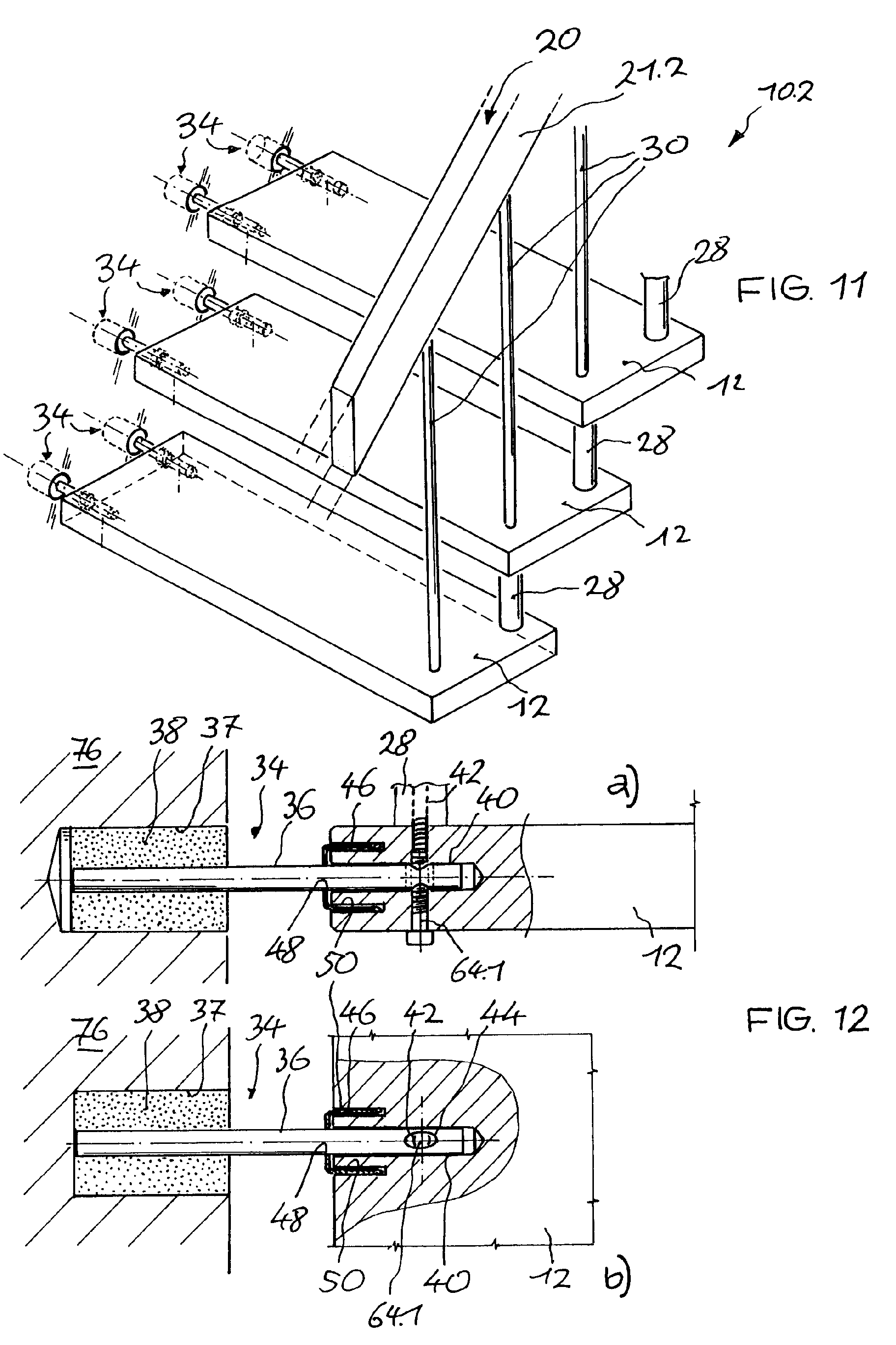 Trittstufen Metall Patent Ep1103671a2 Freitragende Treppe Google Patents