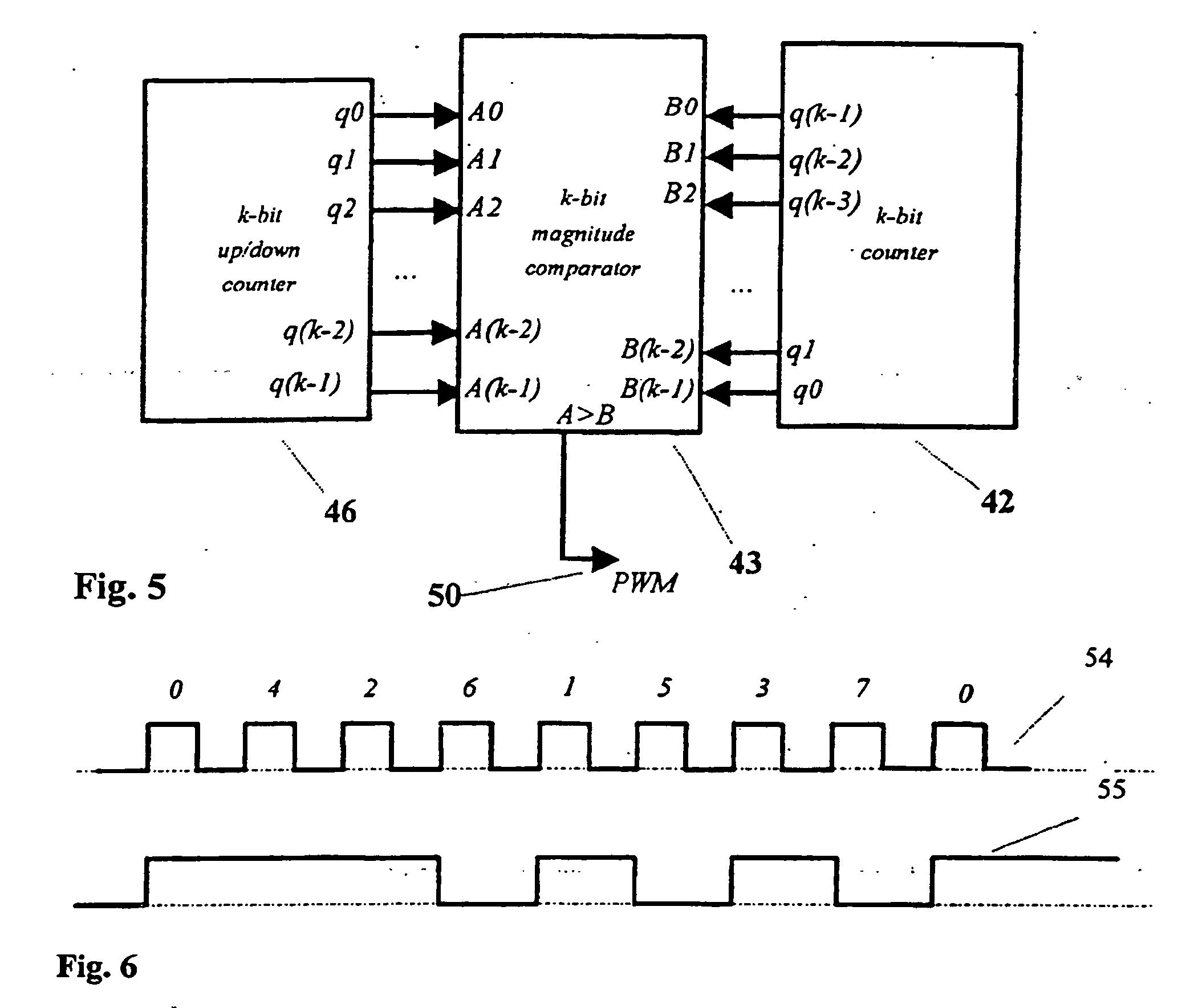 pulse width modulation electronics in meccano