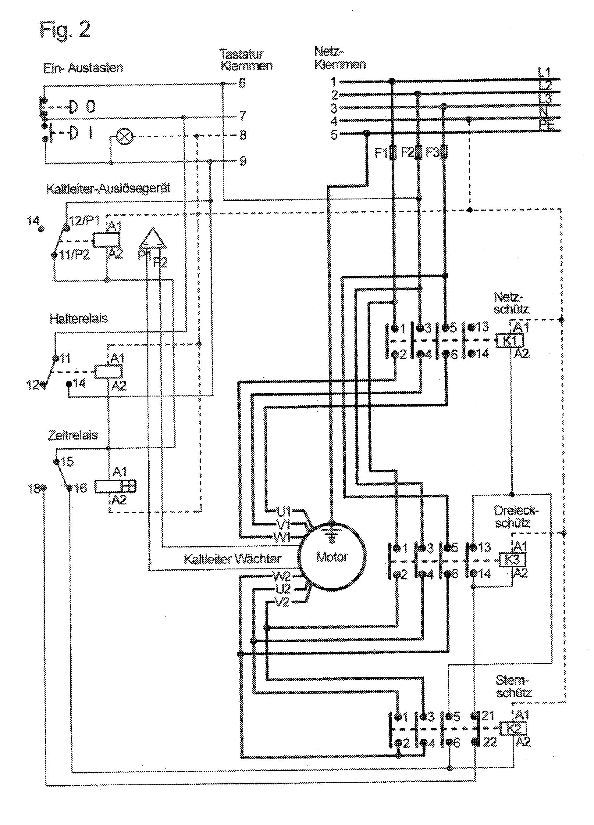 delta motor bedradings schema