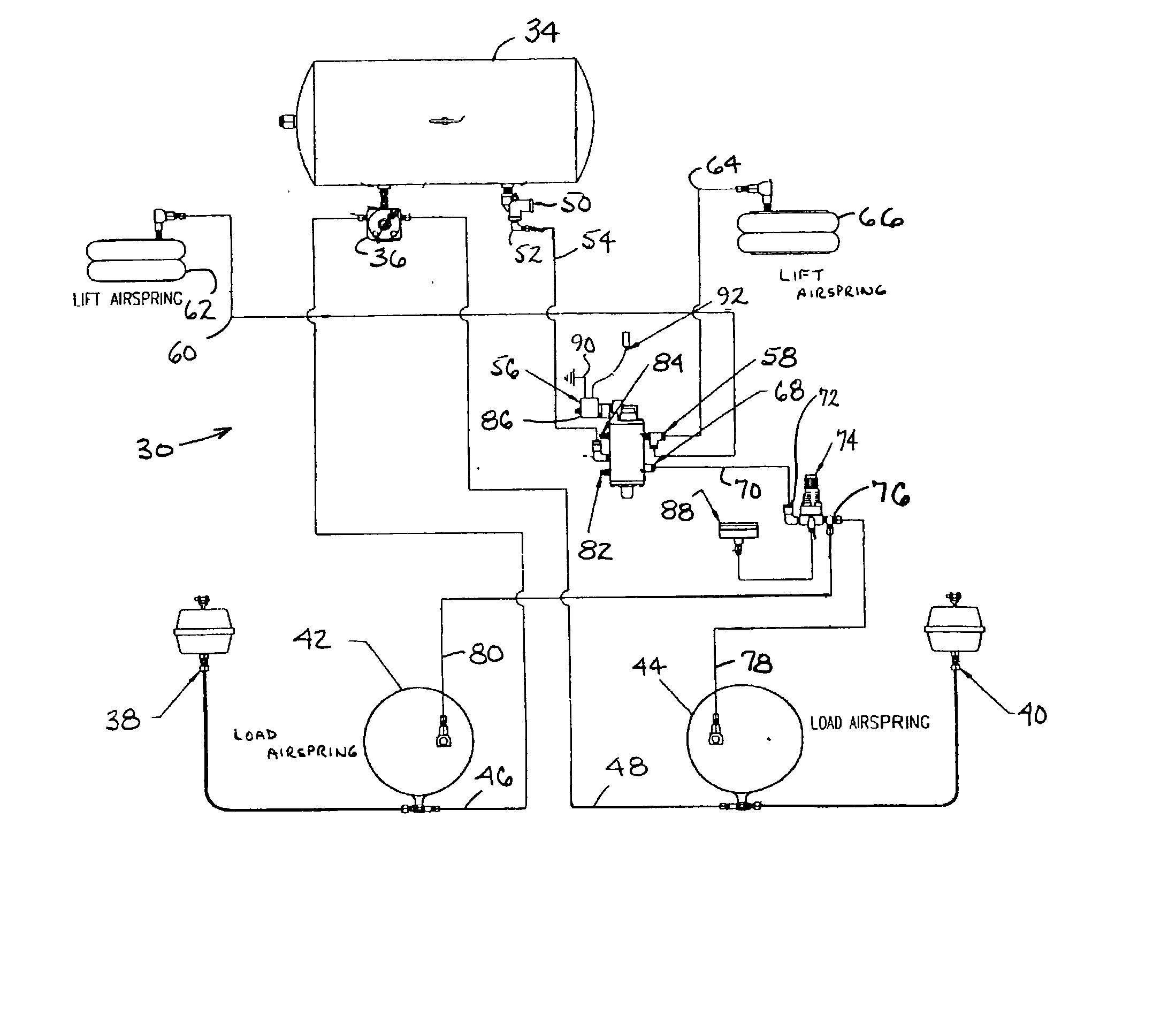 air suspension dump valve diagram