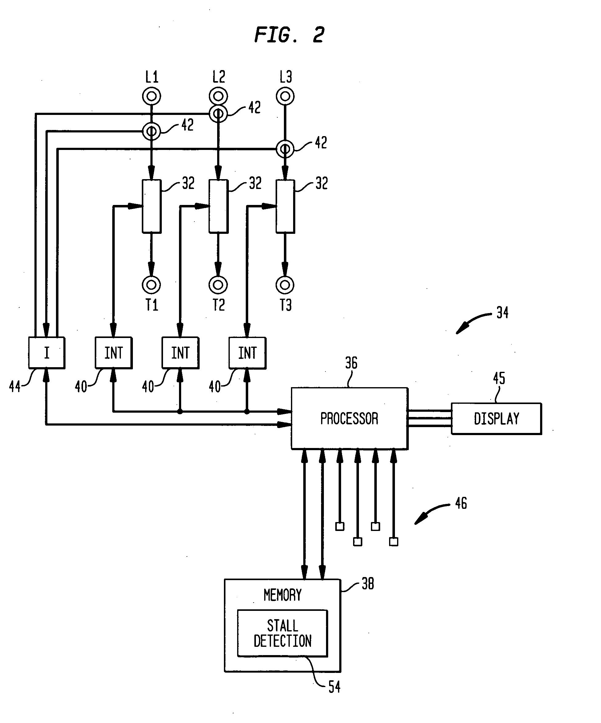 motor turn stall detector