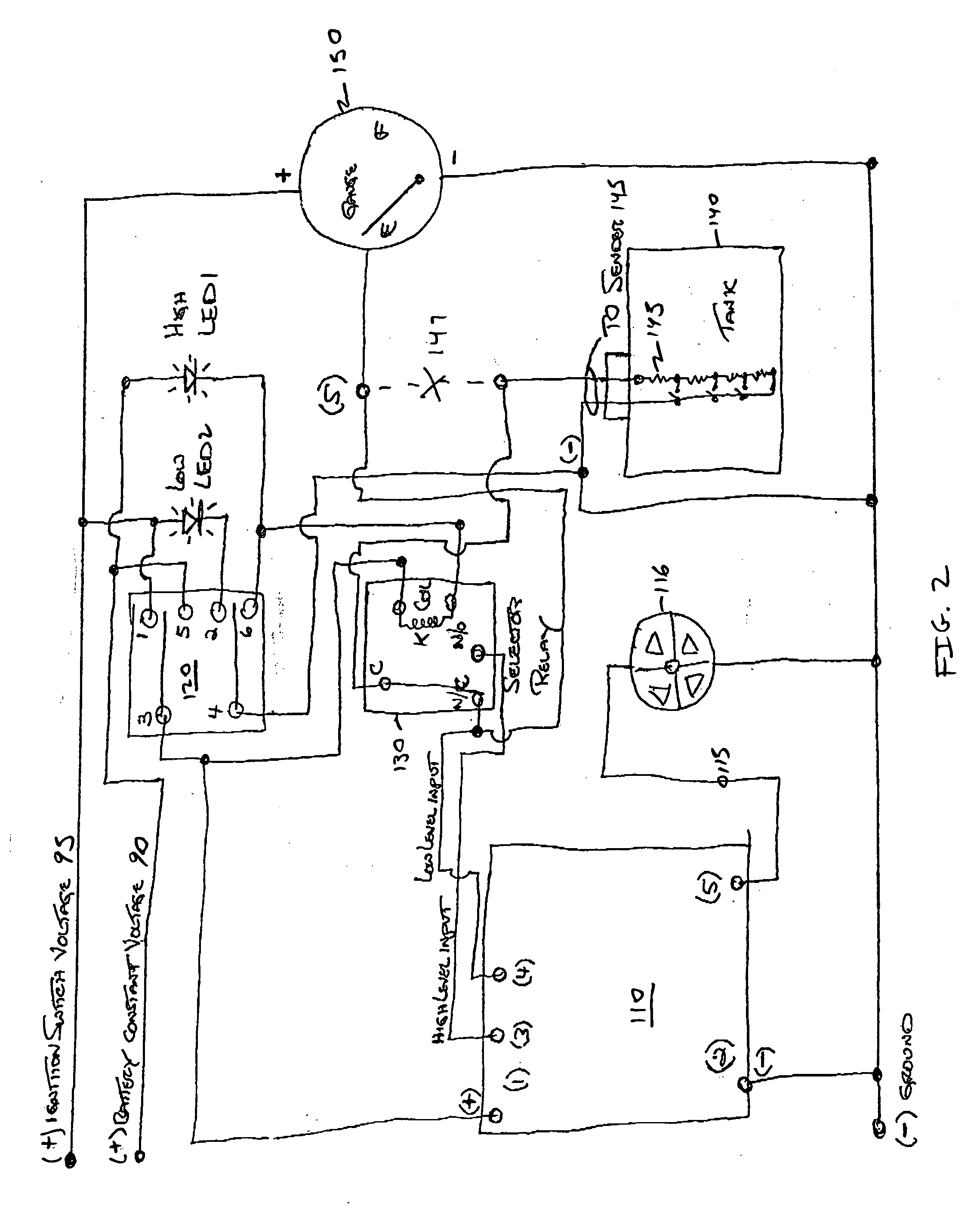 wiring diagram for a well holding tank