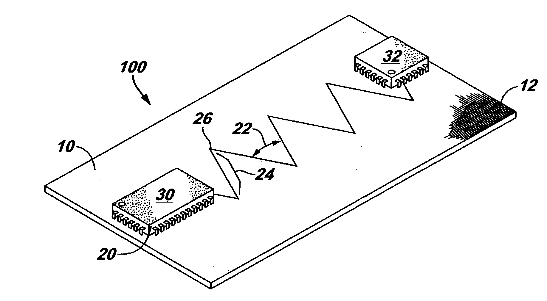 patent us20040262036 printed circuit board trace routing method