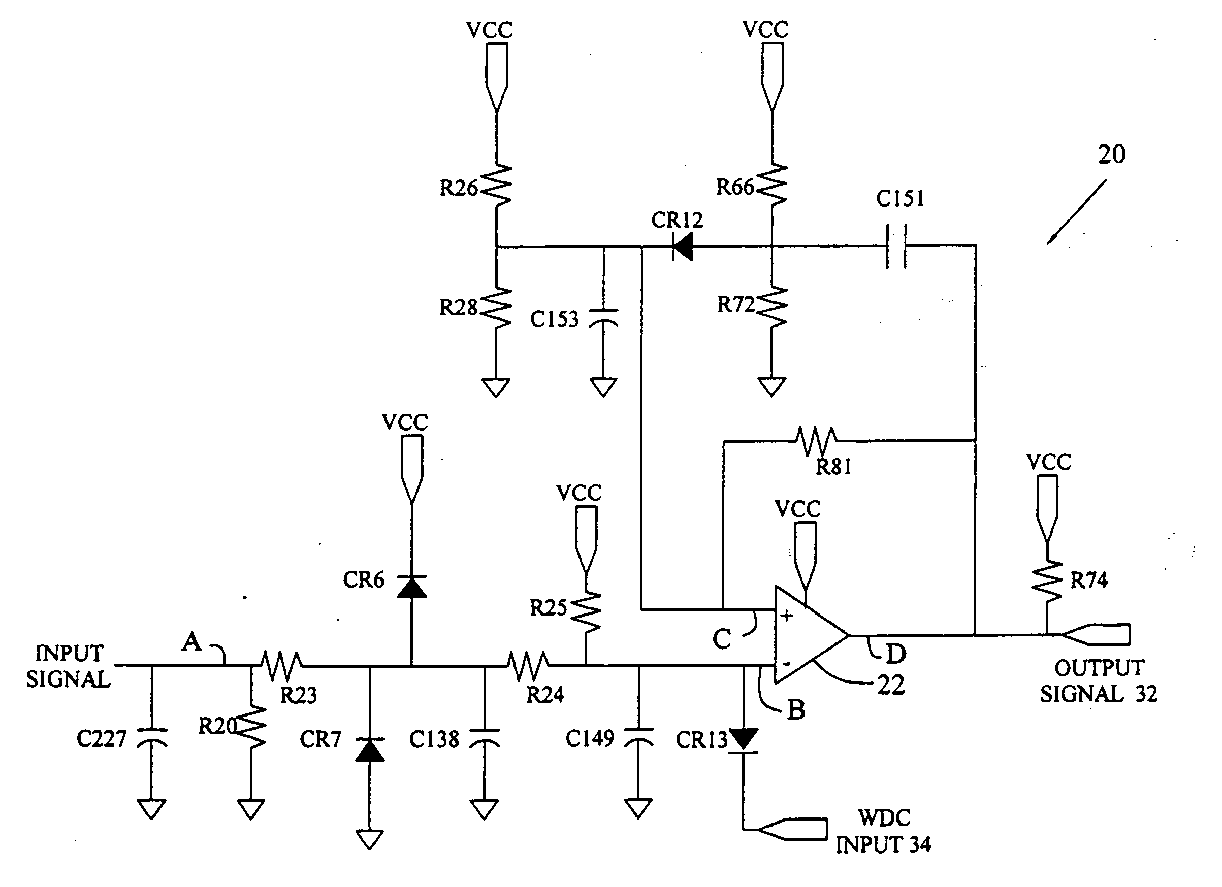 inverting comparator circuit