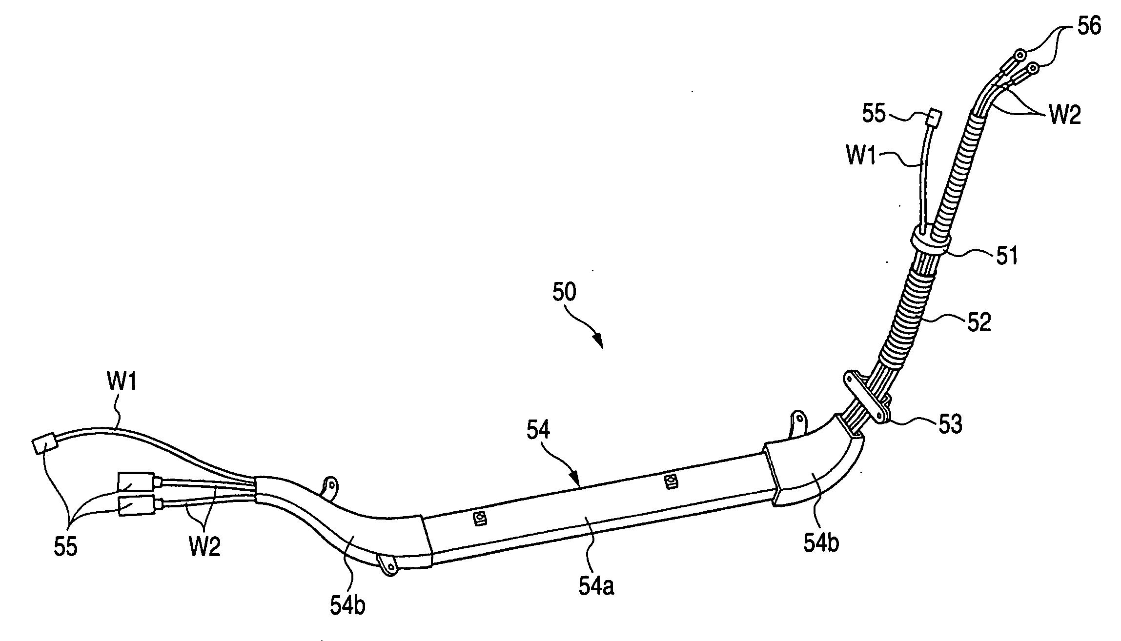 rigid wire harness
