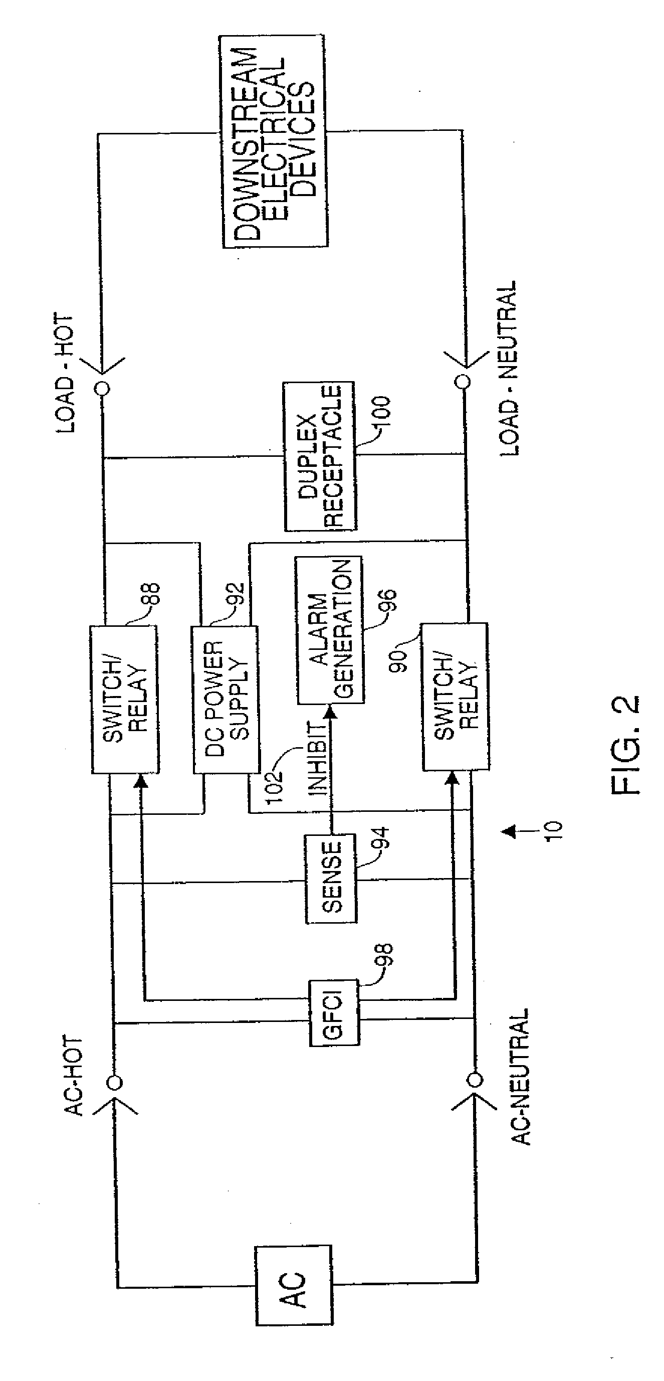 ground fault circuit interrupter receptacle