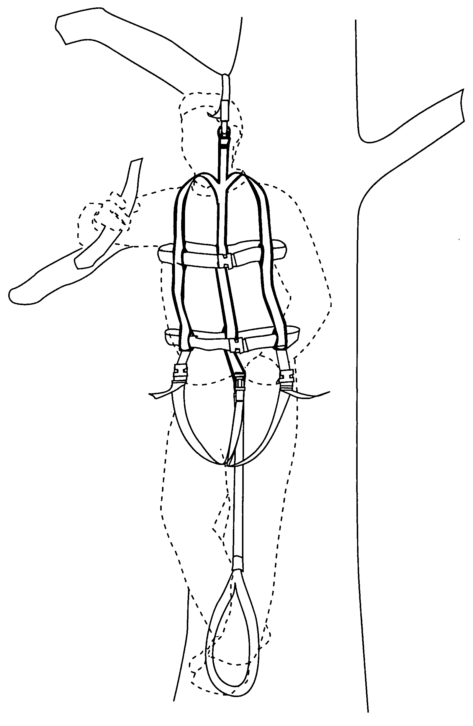 suspension harness foot straps