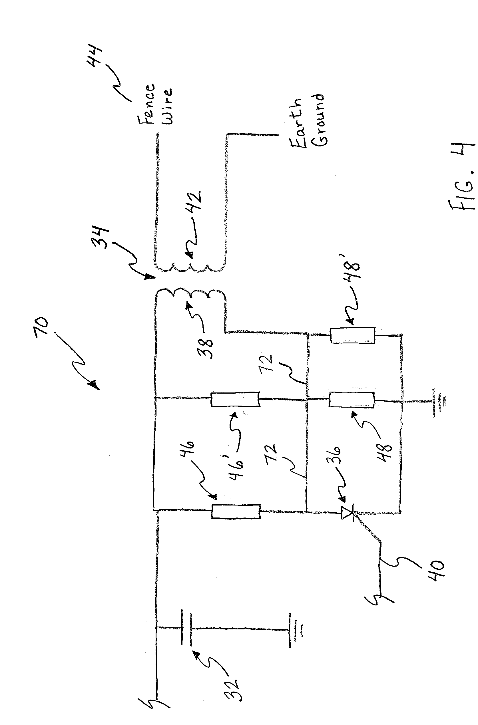 open circuit of electric fencing